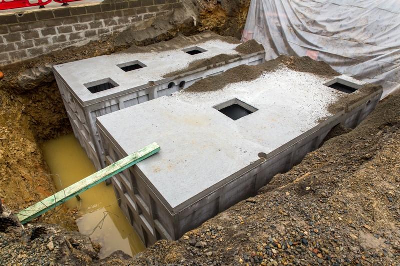 Installation d'une station d'épuration chez Gilfi à Francorchamps (Liège)