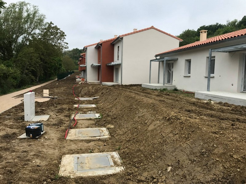Installation d'une station d'épuration 150 EH dans un lotissement en Haute-Garonne