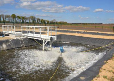 Micro-station pour le traitement de jus de lixiviat d'algues et de déchets vert