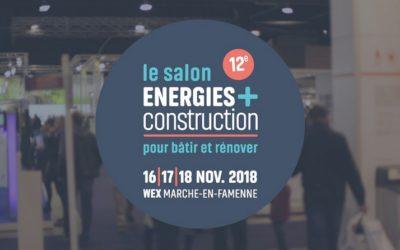 ATB Belgique sera présent au salon ÉNERGIES+CONSTRUCTION, les 16, 17 et 18 novembre 2018